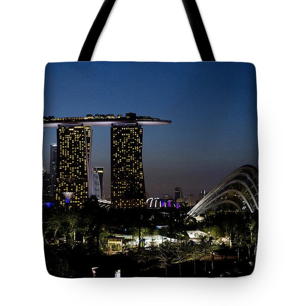 Marina Bay Skyline Tote Bag