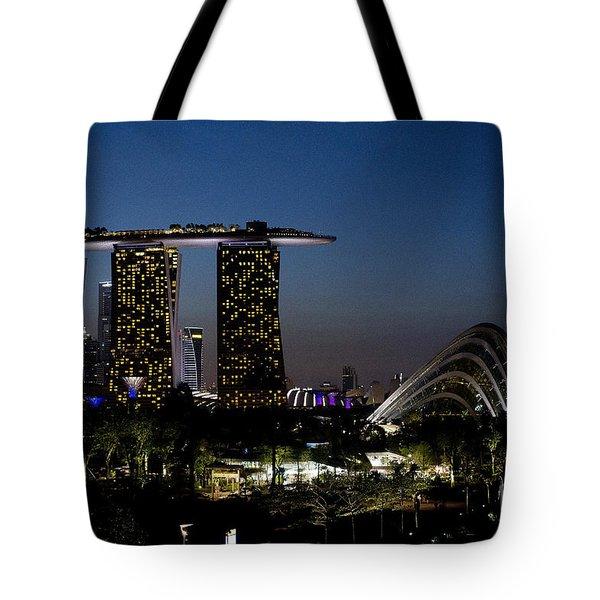 Marina Bay Skyline Tote Bag