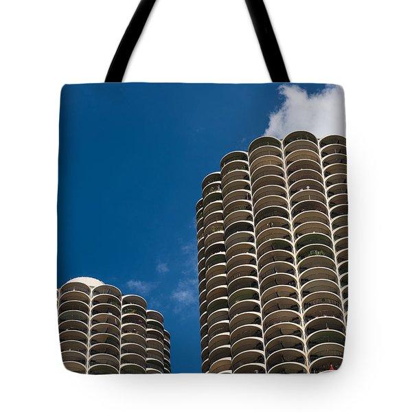 Marina City Morning Tote Bag