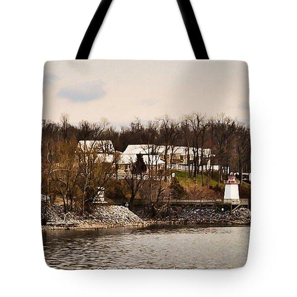 Lighthouse Landing Marina Inlet - Kentucky Lake Tote Bag