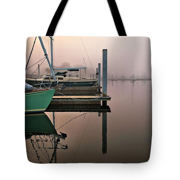 Tote Bag featuring the photograph Marina Morning by Laura Ragland