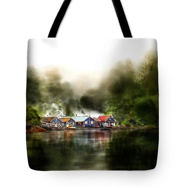 Marina Retreat Tote Bag by Debra Baldwin