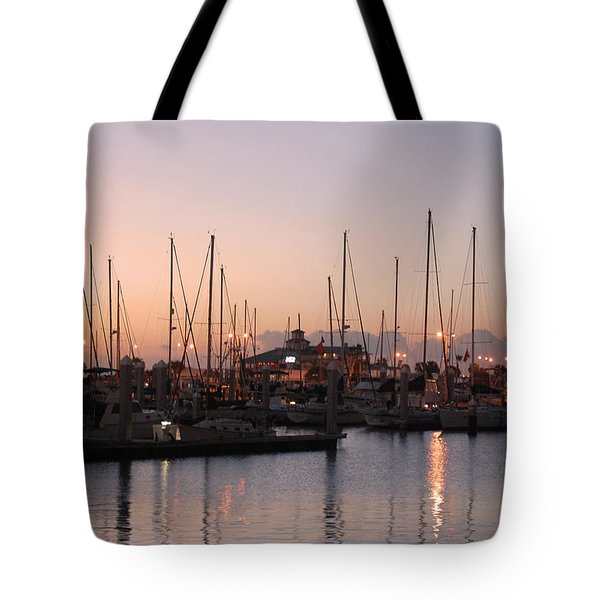 Marina Sunrise 12 Tote Bag by Leticia Latocki