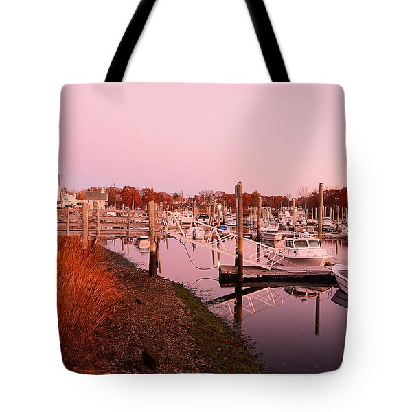 Marina Sunrise Tote Bag