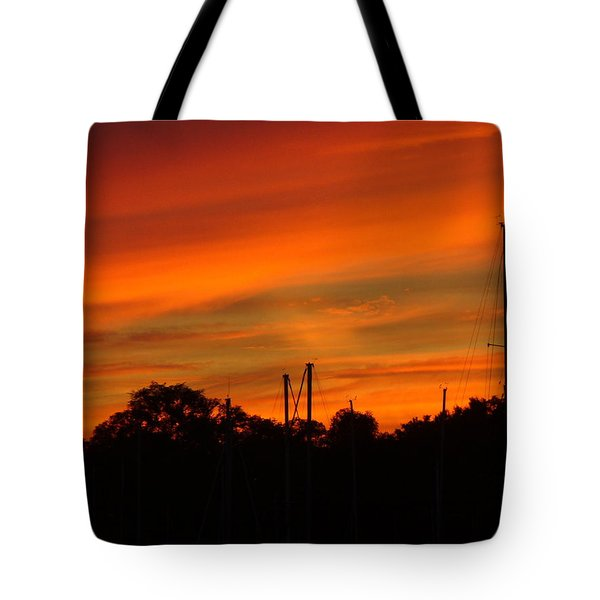 Tote Bag featuring the photograph Marina Sunset by Deena Stoddard