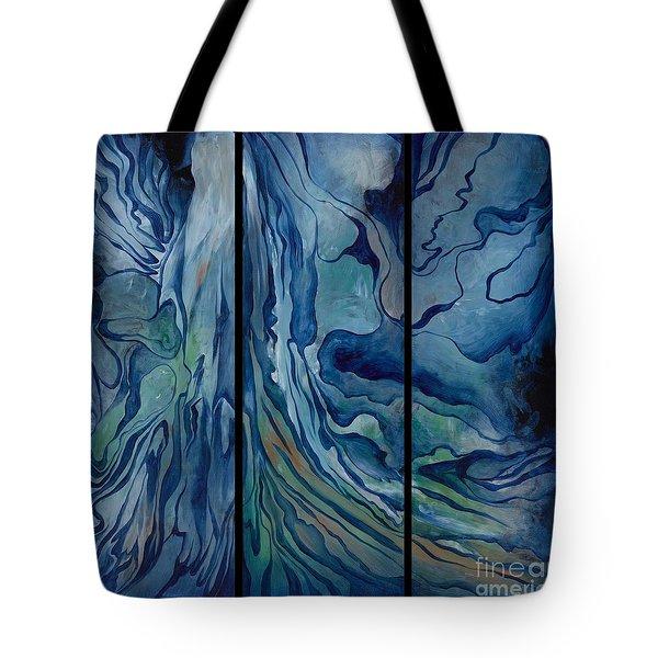 Marina Triptych Tote Bag