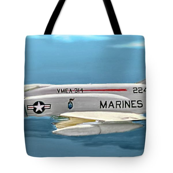 Marine F-4 Phantom  Painting Tote Bag