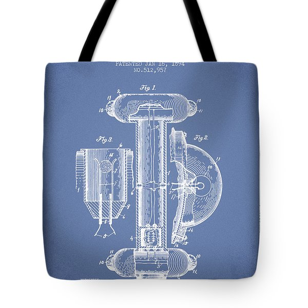 Marine Lifebuoy Patent From 1894 - Light Blue Tote Bag