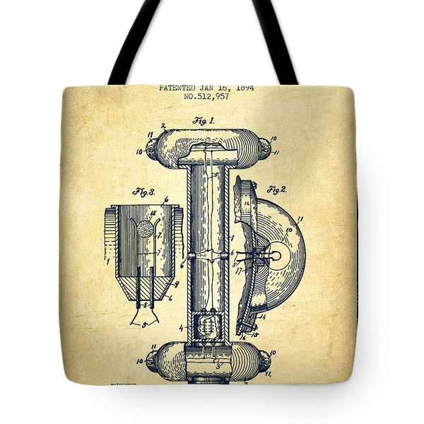 Marine Lifebuoy Patent From 1894 - Vintage Tote Bag