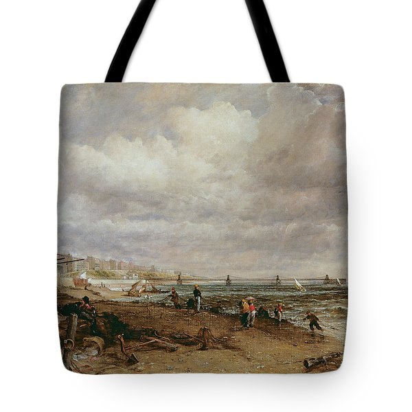 Marine Parade And Old Chain Pier, 1827 Oil On Canvas Tote Bag