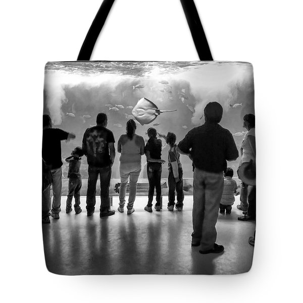 Marine Spectators Tote Bag by Lynn Palmer