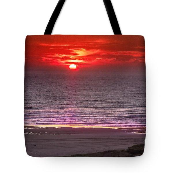 Marine Sunset Tote Bag by Robert Bales