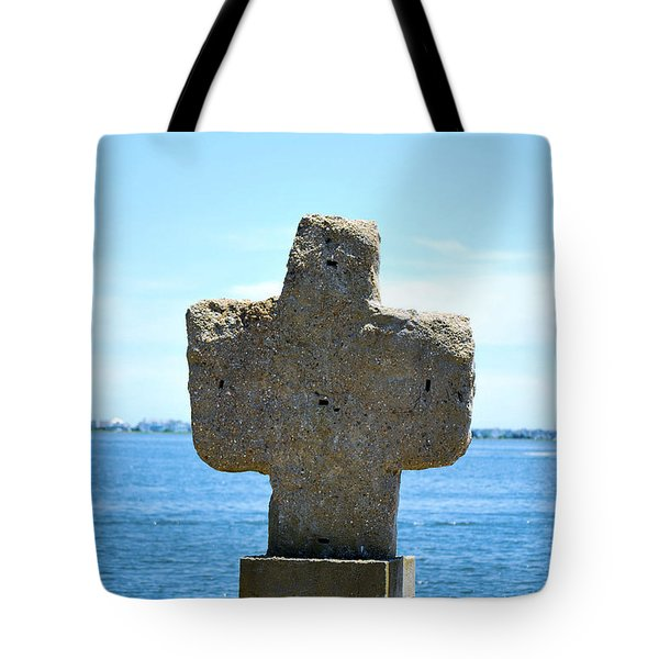 Tote Bag featuring the photograph Mariners Cross by Bob Sample