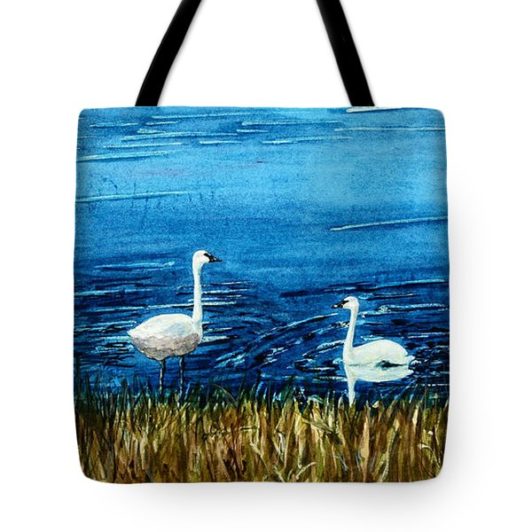 Marion Lake Swans Tote Bag