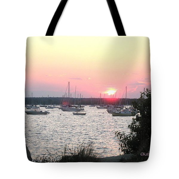 Tote Bag featuring the photograph Marion Massachusetts Bay by Kathy Barney
