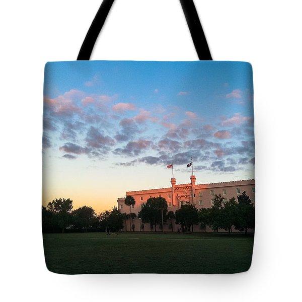 Marion Square Sunrise Tote Bag