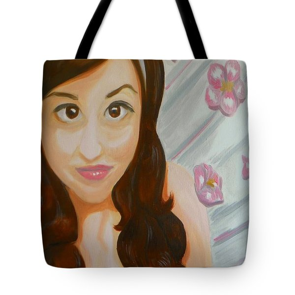 Tote Bag featuring the painting Marisela by Marisela Mungia