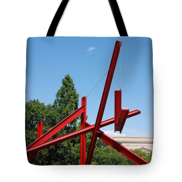 Mark Di Suvero Steel Beam Sculpture Tote Bag