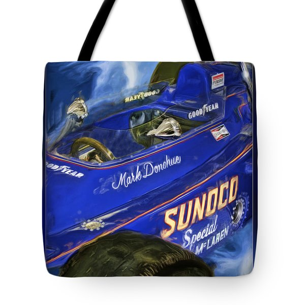 Mark Donohue 1972 Indy 500 Winning Car Tote Bag