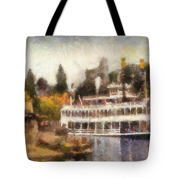 Mark Twain Riverboat Frontierland Disneyland Photo Art 02 Tote Bag