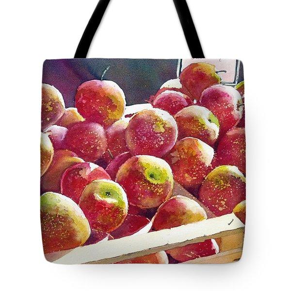Market Apples Tote Bag