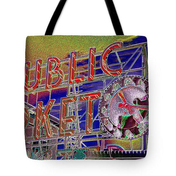 Market Clock 1 Tote Bag
