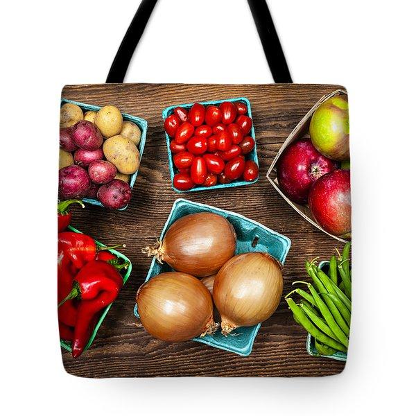 Market Fruits And Vegetables Tote Bag by Elena Elisseeva