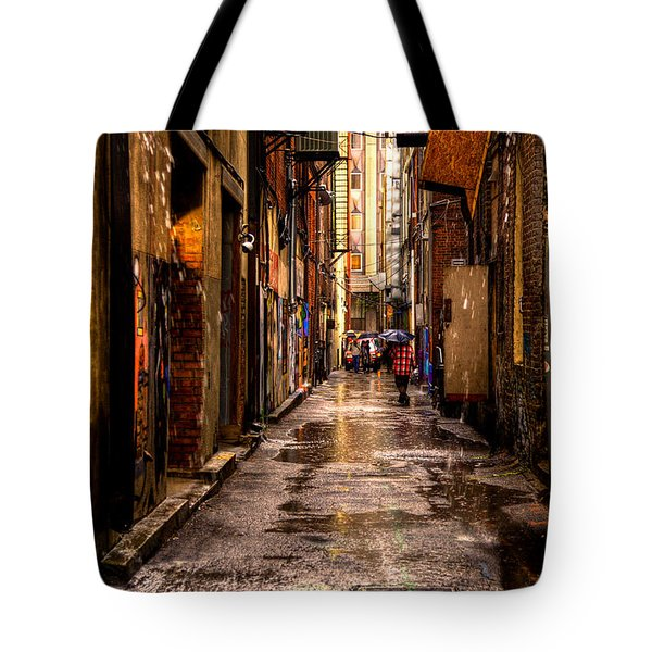 Market Square Alleyway - Knoxville Tennessee Tote Bag by David Patterson