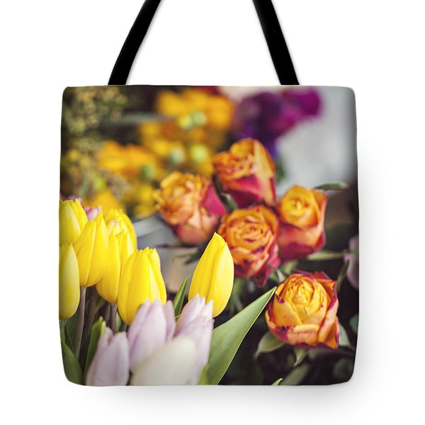 Market Tulips - Paris, France Tote Bag