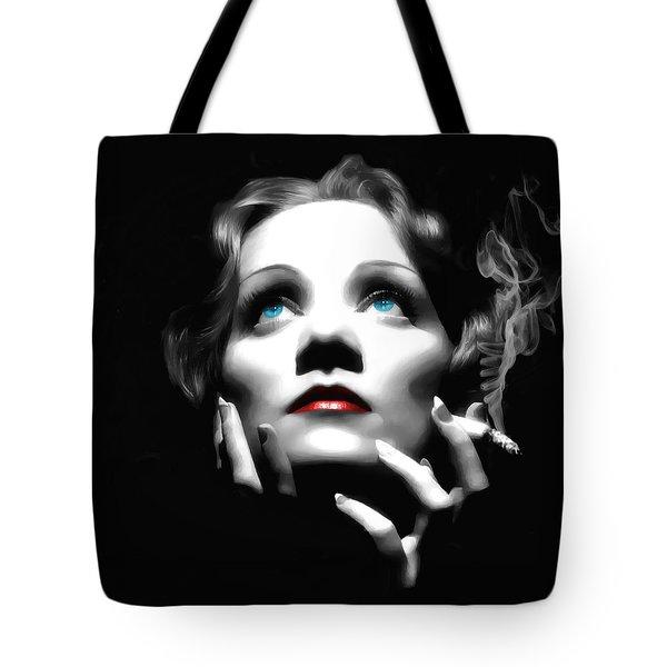 Marlene Dietrich Portrait Tote Bag