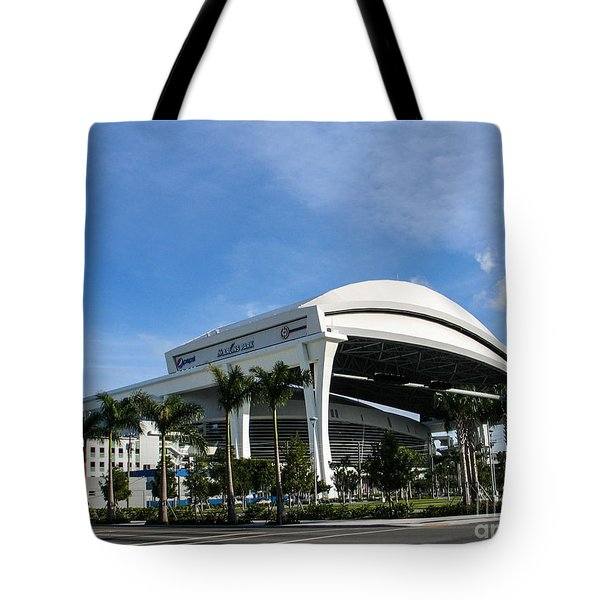Marlins Park Stadium Miami 16 Tote Bag by Rene Triay Photography