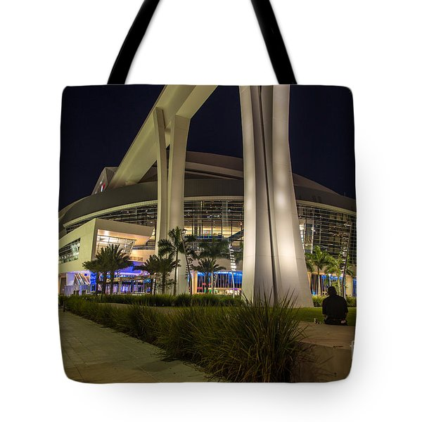 Marlins Park Stadium Miami 3 Tote Bag by Rene Triay Photography