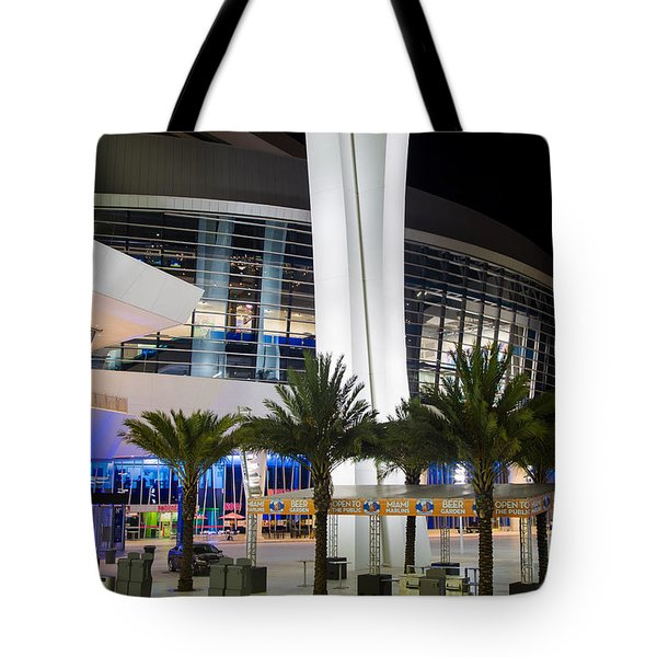 Marlins Park Stadium Miami 5 Tote Bag by Rene Triay Photography