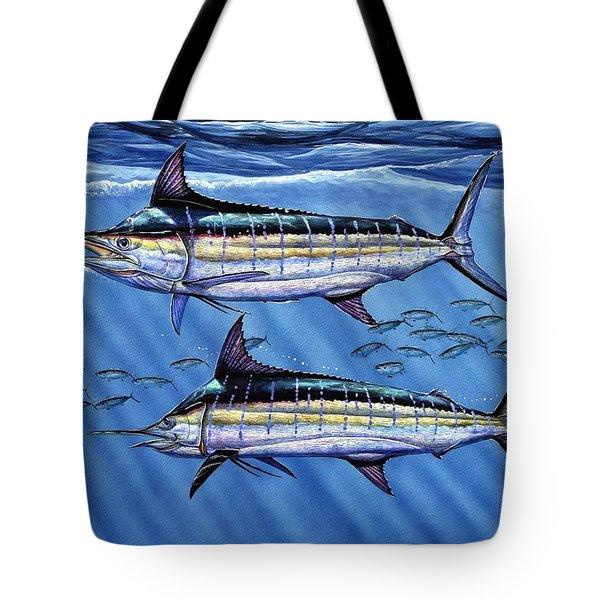 Marlins Twins Tote Bag