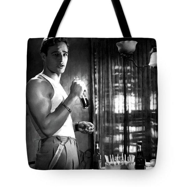 Marlon Brando @ A Streetcar Named Desire Tote Bag