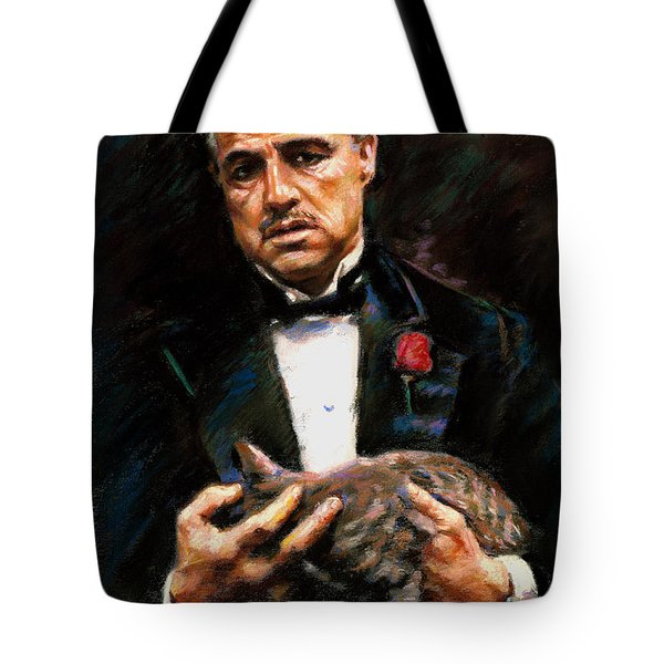 Marlon Brando The Godfather Tote Bag