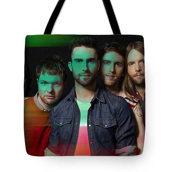 Maroon 5 Painting Tote Bag by Marvin Blaine