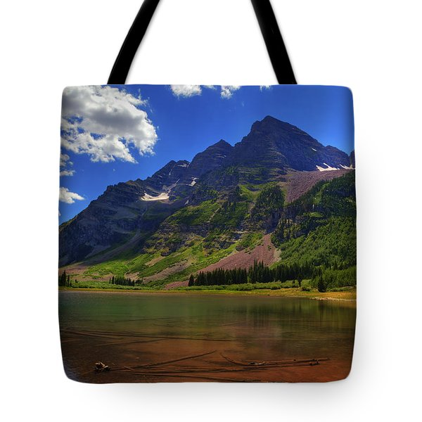Tote Bag featuring the photograph Maroon Bells by Alan Vance Ley