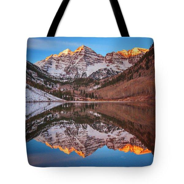 Maroon Bells Alpenglow Tote Bag