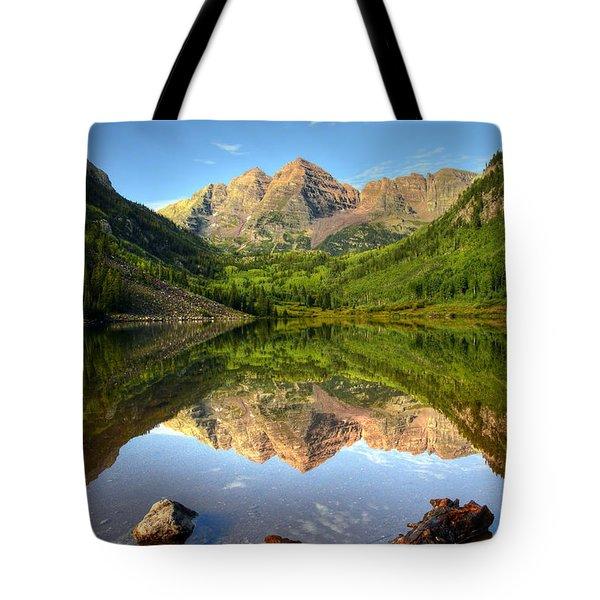 Maroon Bells And Maroon Lake Tote Bag