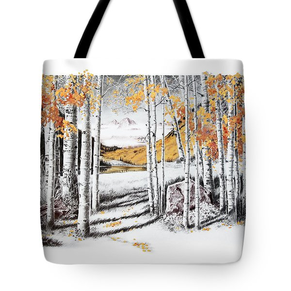 Maroon Bells Gold Tote Bag