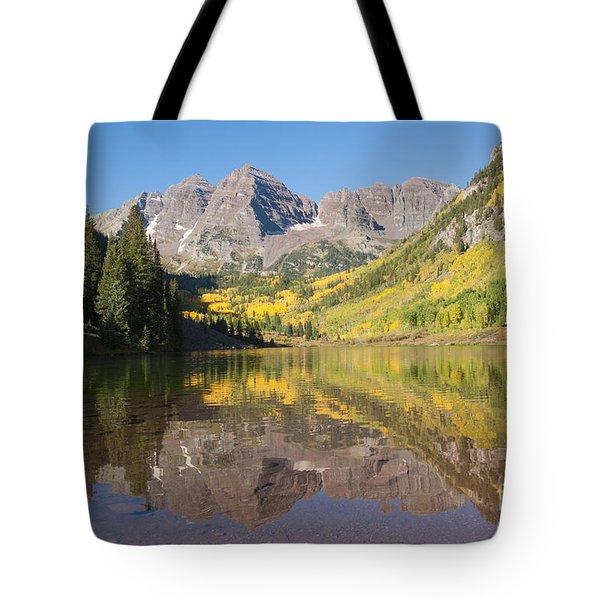 Maroon Bells In Autumn Tote Bag