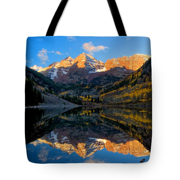 Maroon Bells Landscape Tote Bag by Ronda Kimbrow