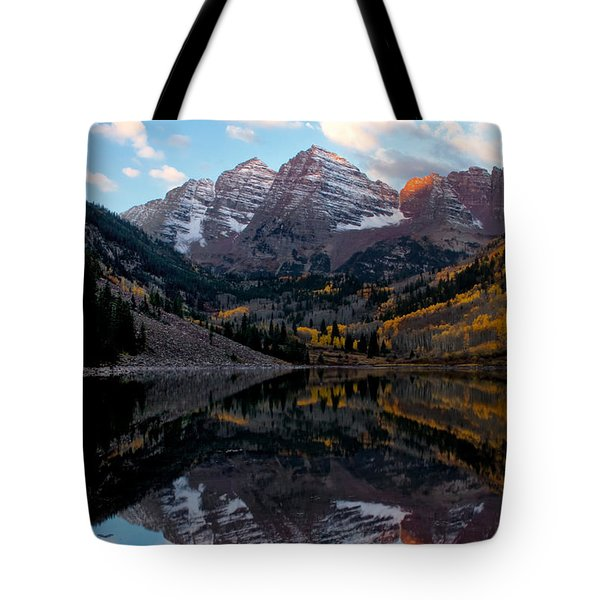 Tote Bag featuring the photograph Maroon Bells by Ronda Kimbrow