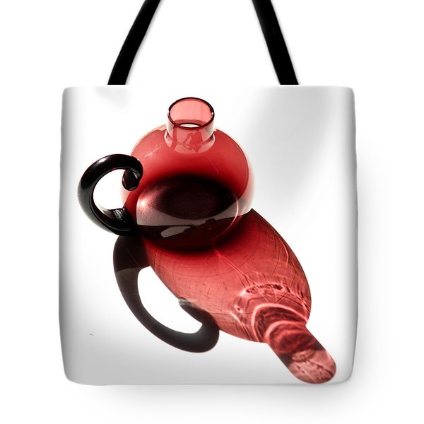 Maroon Bottle Tote Bag by Art Block Collections