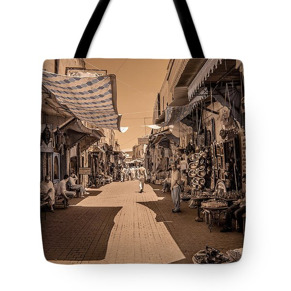 Marrackech Souk At Noon Tote Bag