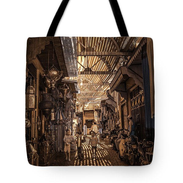 Marrakech Souk With Children Tote Bag
