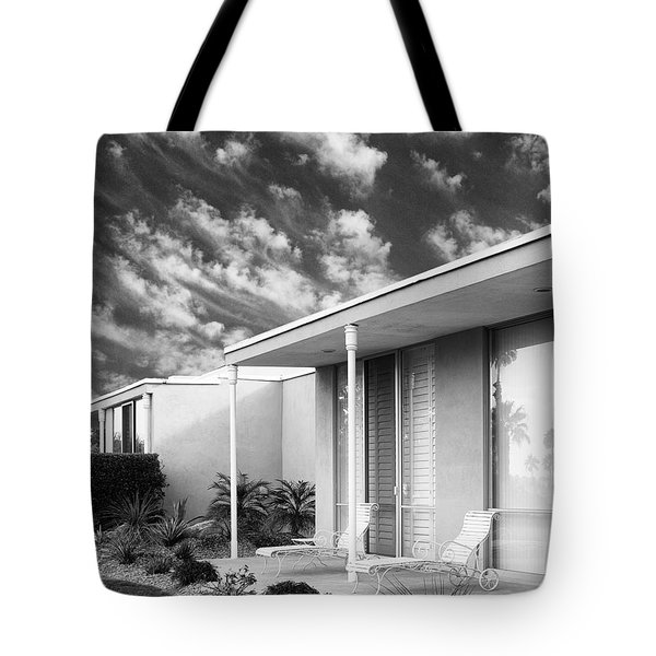 Marrakesh Lounge Bw Palm Springs Tote Bag by William Dey