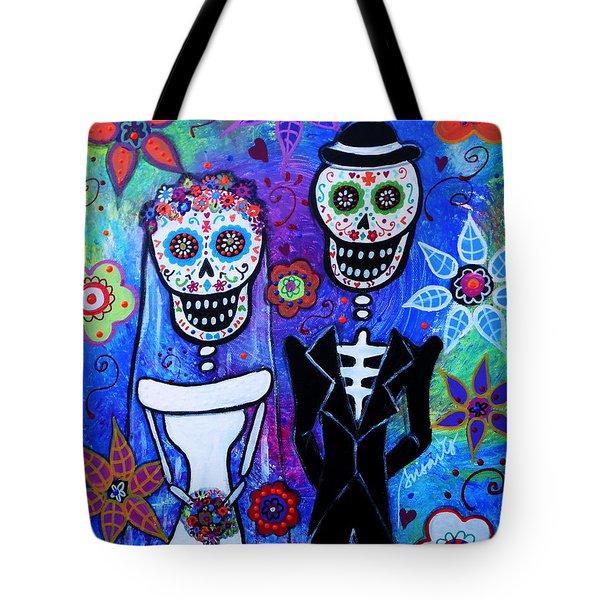 Married Couple Dia De Los Muertos Tote Bag
