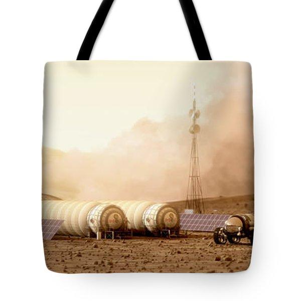 Mars Dust Storm Tote Bag by Bryan Versteeg
